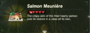Breath of the Wild Food Dishes Salmon Meunière (Description)