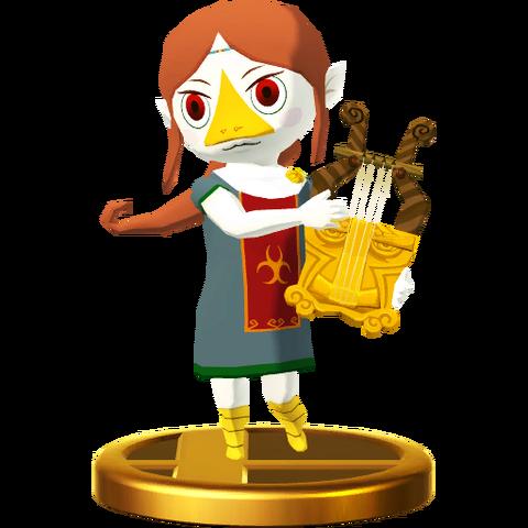 File:Super Smash Bros. for Wii U Sage of Earth Medli (The Wind Waker) Medli (Trophy).png