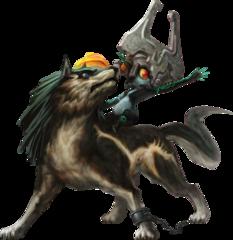 File:Twilight Princess HD Artwork Wolf Link & Midna (Offical Artwork).png