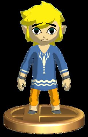 File:Super Smash Bros. Brawl Toon Link Outset Link (Trophy).png