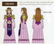 Ocarina of Time Artwork Princess Zelda - Adult Era (Concept Art)