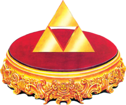 Artwork of the Triforce from A Link to the Past