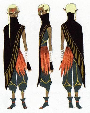 File:Skyward Sword Artwork Impa Black Cloack (Concept Art).jpg