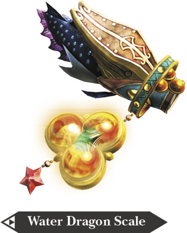 File:Hyrule Warriors Zora Scale Water Dragon's Scale (Render).png