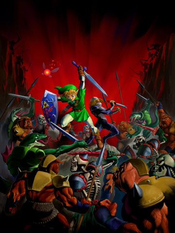 Arquivo:Link and Sheik Battle Ganondorf's Hordes.png