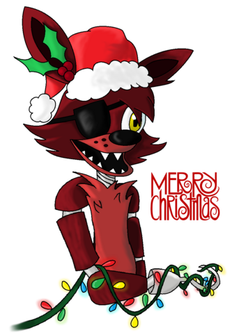 File:Five nights at freddy s christmas foxy by starlightraven14-d88w6gh.png