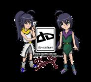 Bakugan oc shizuka and shiori by zephyros phoenix-d3gwldj