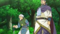 Two men conversing