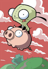 GIR Pig Flying