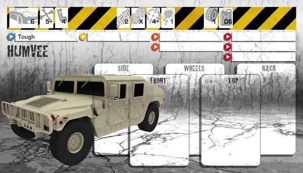 Dashboard Humvee
