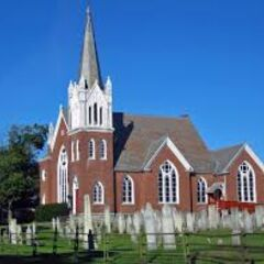 An example of a Church with a Cemetery