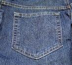 Jeans pocket back