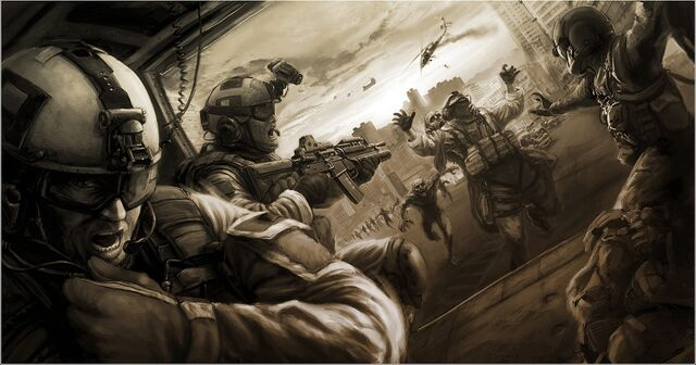 File:Soldiers vs zombies war wallpaper.jpg