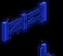 Blue Fence Gate