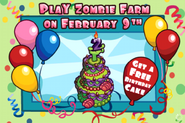 Zombie Farm's 2nd Birthday Loading Screen