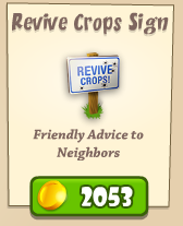 Revive Crops Sign