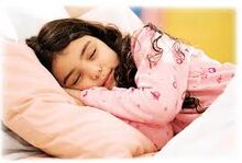 Adina sleeping