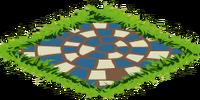 Blue Mosaic Path