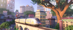 Weaselton rides the train