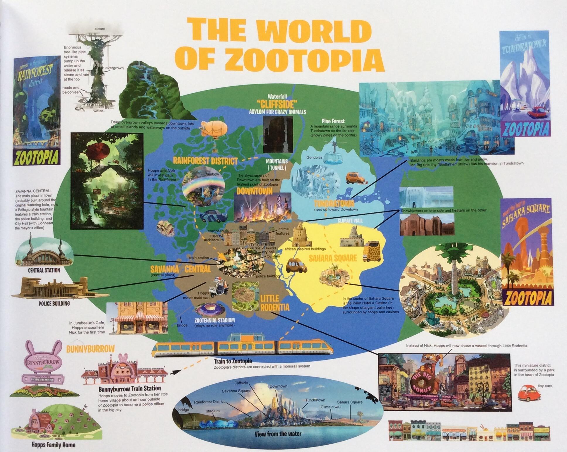 Image Mapofzootopiaart Jpeg Zootopia Wiki Fandom