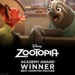 Zootopia Oscar Win