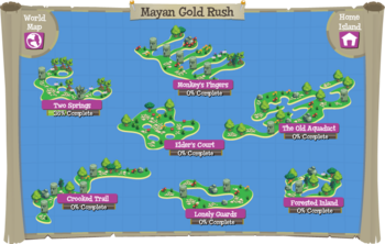 Mayan Gold Rush map