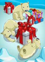 Polar Bearing Gifts Victory-icon
